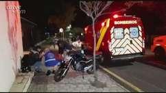 Entregador de lanche fica ferido em acidente de trânsito em Cascavel