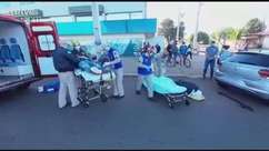 Batida entre carros deixa vítimas feridas no Bairro Floresta
