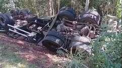 Pai e filho morrem em capotamento de carreta na PR 317
