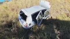 Vítimas de capotamento estavam fugindo de assaltantes, diz PRF