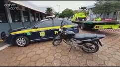 Motocicleta com alerta de furto é recuperada pela PRF em Cascavel
