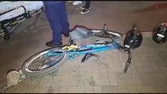 Ciclista de 17 anos fica ferido em acidente na Avenida Rocha Pombo