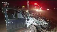 Casal fica ferido após acidente de trânsito na BR 467 em Cascavel