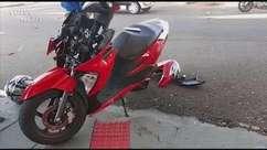 Batida entre moto e carro é registrada no Centro de Cascavel