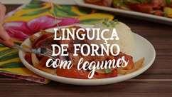 Linguiça de forno com legumes