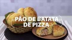 Pão de batata de pizza