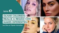 Olhar colorido: realce a região com makes diferentes