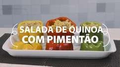 Faça uma salada de quinoa com pimentão