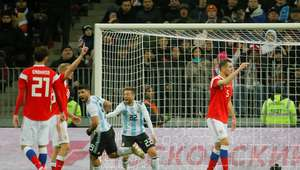 Argentina joga melhor e vence amistoso contra a Rússia