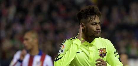"""Copa do Rei: Neymar brilha, mas vê espanhol provocar com """"7"""""""