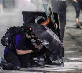 Protestos antirracistas acabaram em confusão em Kenosha Foto: EPA / Ansa - Brasil