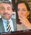 """Jornalista da GloboNews fuma ao vivo: """"Sinal tinha caído"""""""