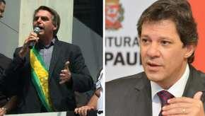 Chances de 2º turno entre Bolsonaro e Haddad aumentaram