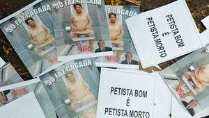 Velório de ex-presidente do PT tem protestos a Lula e Dilma
