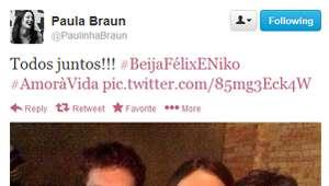 Mulher de Mateus Solano posta foto com marido e Fragoso: ...