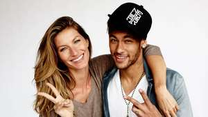 Neymar poses with Gisele for Vogue Brazil
