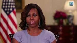 Michelle Obama pede educação e lembra meninas sequestradas