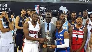 Time local perde para Time Mundo no 1º jogo da NBA na África