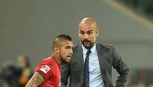 Guardiola alaba a Vidal por el nivel desplegado