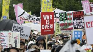 Japoneses protestan en Parlamento; no quieren ir a la Guerra