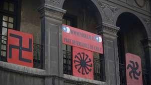 Diputados clausuran simbólicamente sede de partido neonazi