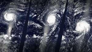 Tres huracanes aparecen al mismo tiempo en el Pacífico