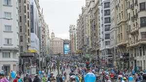 Más de 100 mil ciclistas toman Madrid