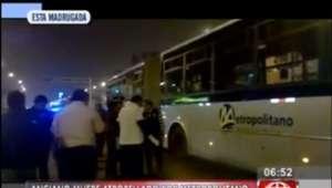 Independencia: anciano es atropellado por Metropolitano