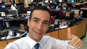 Bem-humorado, Tralli mostra bastidores de jornal no Twitter