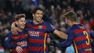 Messi y Suárez golean, Barcelona sella su boleto