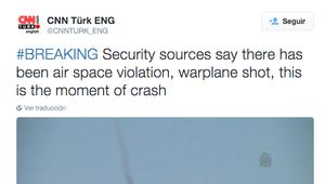 Turquía derriba un caza ruso cerca de la frontera