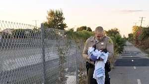 Rescatan a recién nacido cerca de un arroyo en California