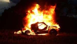 VIDEO: así quedó el Buggy que se incendió en el Dakar