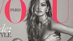 Gigi Hadid irrumpe en la biblia de la moda sin ropa