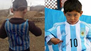 Pequeño afgano fan de Messi tuvo que huir de su país