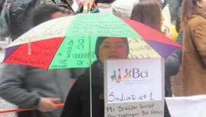 Trabajadores BCI mantienen histórica huelga de la empresa