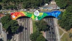 Túnel Novo inaugura decoração olímpica do Rio de Janeiro