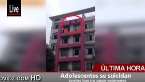 Dos adolescentes se suicidan por reprobar exámenes (VIDEO)