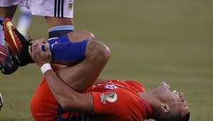 FOTO: así de feo está el tobillo de Alexis tras foul de ...