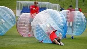 El divertido e insólito entrenamiento del Barcelona