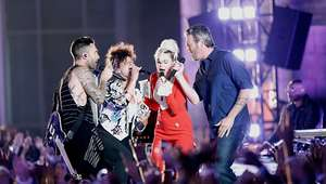 Miley Cyrus, Alicia Keys, Adam Levine y Blake Shelton ...