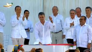 ¡Histórico! Gobierno colombiano y las FARC firman ...