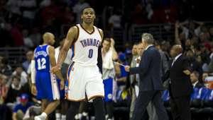 Westbrook lidera triunfo del Thunder en Filadelfia
