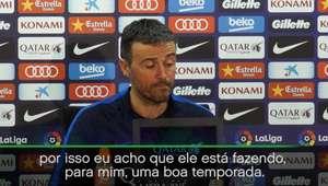 """Luis Enrique defende Neymar: """"Seu futebol não se resume ..."""