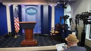 Trump veta CNN e NYT de entrevistas diárias na Casa Branca
