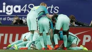 El Barcelona se impone al Atlético con los goles de ...