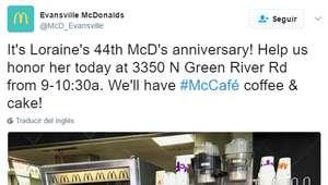 Una mujer de 94 años trabaja en McDonald's y no planea ...