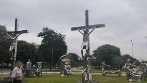 Mostra no Ibirapuera recria Via Crucis
