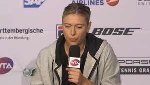 'Estou feliz com a maneira que eu joguei' - Sharapova