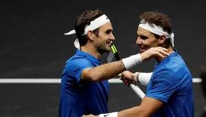 """Nadal e Federer estreiam """"duplas dos sonhos"""" com vitória"""